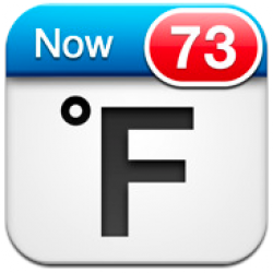 Fahrenheit: A Working Weather Gauge For Your Home Screen