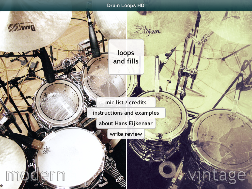 Drum Loops HD 1 3, a real drummer for your iPad or iPhone in